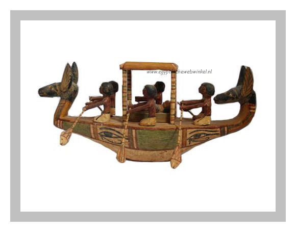 Egyptian funeral wooden boat