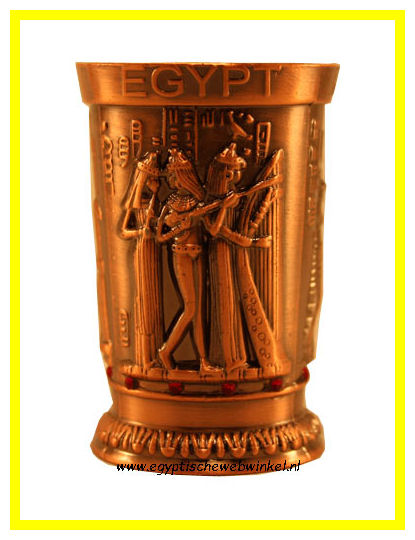 Luxury bronze pharaohs drink cups