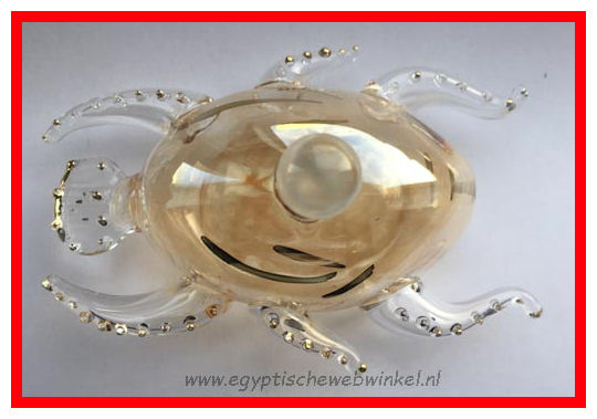 Scarab perfume glass bottel