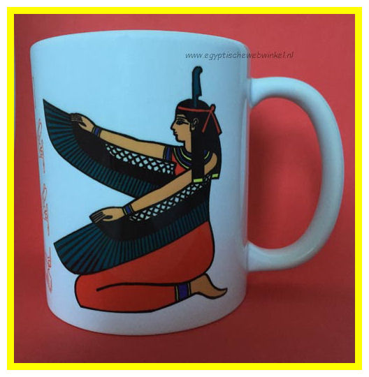 Egyptian Winged Goddess Maat cup