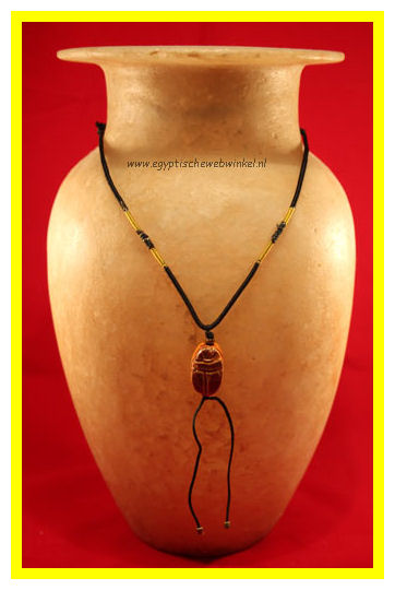 Brown scarab necklace
