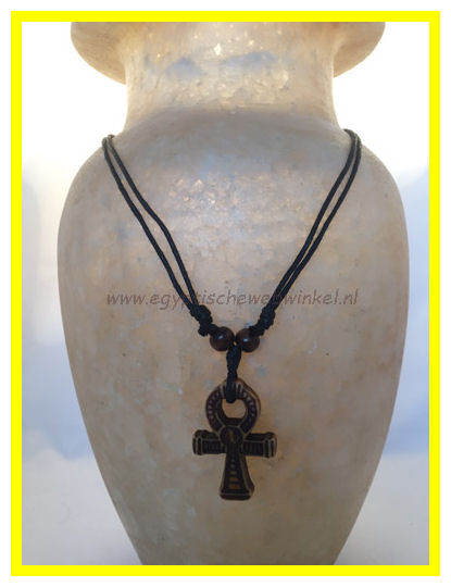Dark golden Ankh necklace