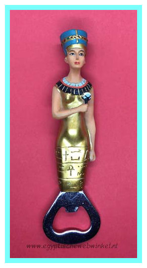 Nefertiti bottle opener