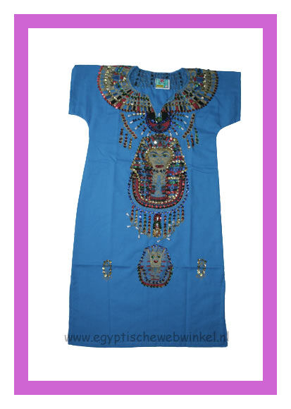 Tutanchamon blue dress