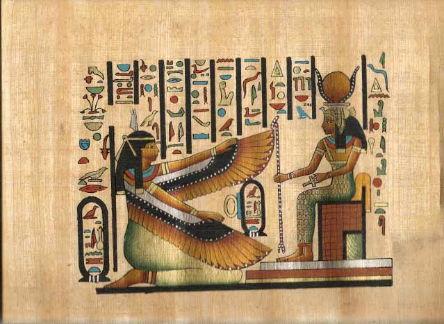 Goddesses Isis and Maat