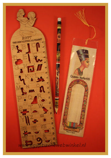 Hieroglyphics wooden Ruler