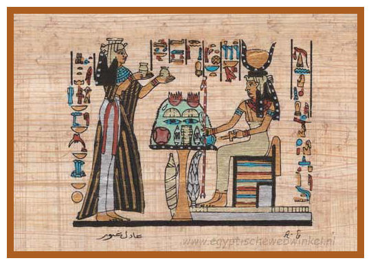 Goddess Hathor and queen Nefertari