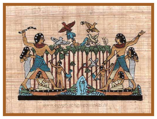 Nebamun hunting in the marshes papyrus