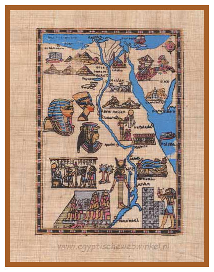 Map of Egypt papyrus