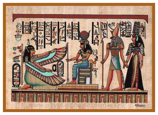 Isis, Ma'at, Horus and Nefertari Papyrus