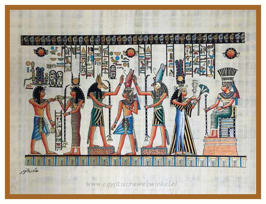 Horus, Anubis and queen Nefertari