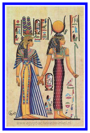Isis and Nefertari post card