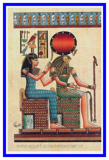 Ra-Horakhty and Hathor post card