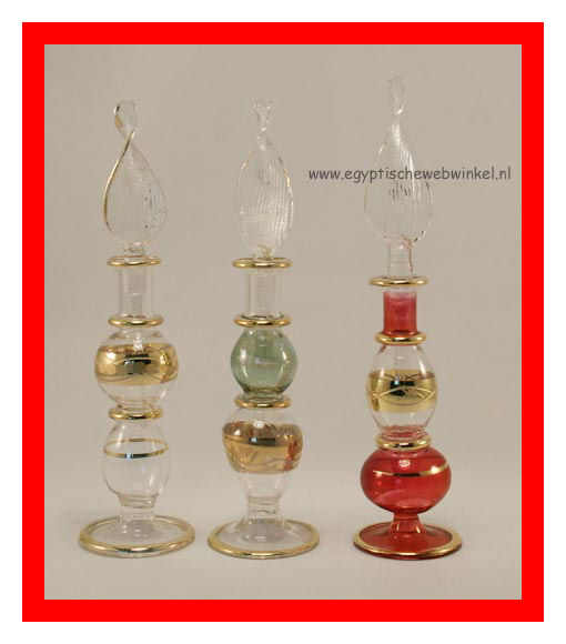 Pyramid perfume bottles set