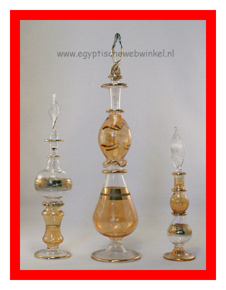 Golden Sahara perfume bottles set