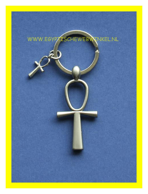 Ankh key chain (silver-colored)