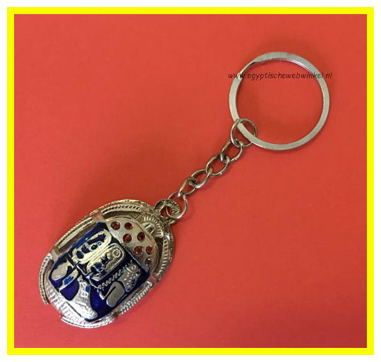 Key chain blue scarab Z