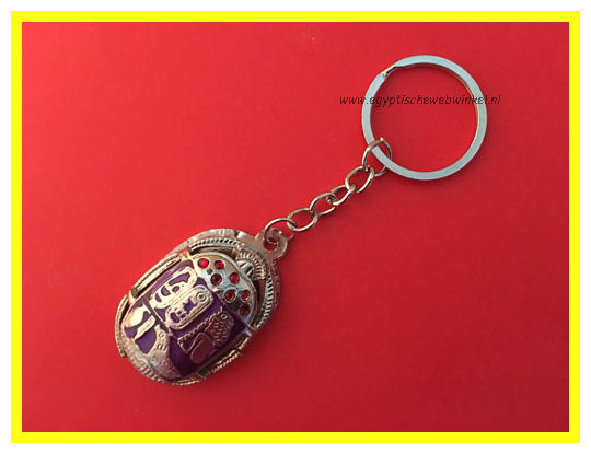 Key chain purple scarab Z
