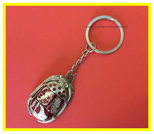 Key chain red scarab Z