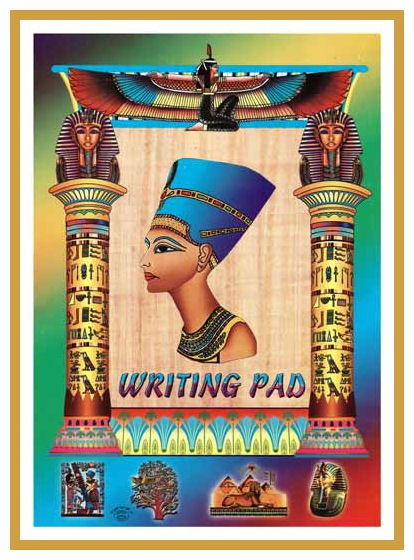 Nefertiti writing pad A4