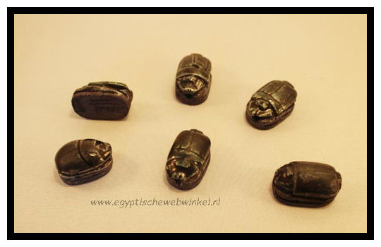 Small black scarabs