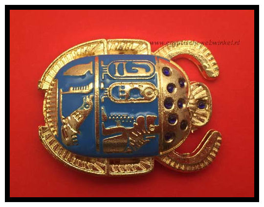 Golden blue scarab k