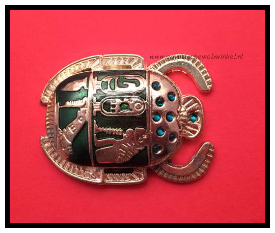 Golden green scarab k