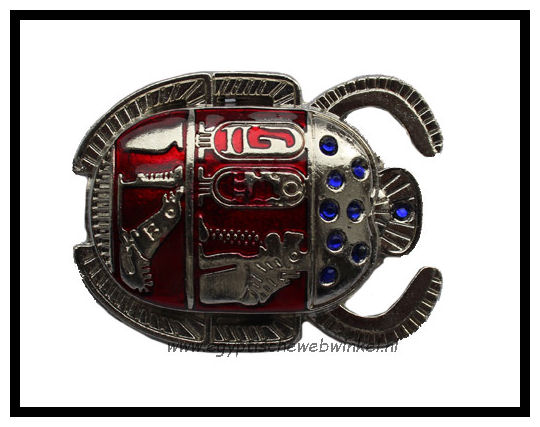 Silver red scarab K