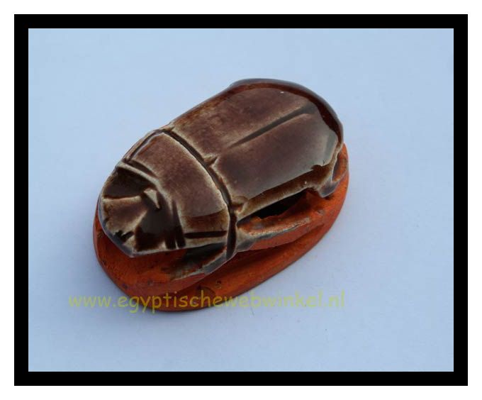 Brown scarab stone